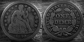 Seated Liberty Dime | F